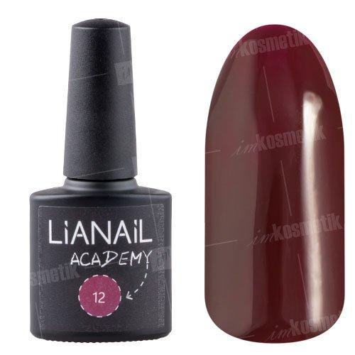 Lianail, Гель-лак Academy - Очень темный красный №12 (10 мл.)Lianail<br>Гель-лак очень темный красный оттенок, плотный<br>