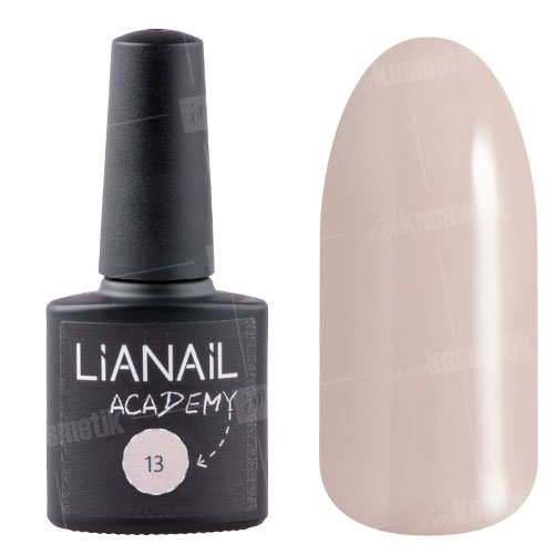 Lianail, Гель-лак Academy - Бледно-каштановый №13 (10 мл.)Lianail<br>Гель-лак бледно-каштановый оттенок, плотный<br>
