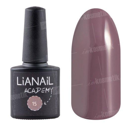 Lianail, Гель-лак Academy - Темный красновато-серый №15 (10 мл.)Lianail<br>Гель-лак темный красновато-серый оттенок, плотный<br>