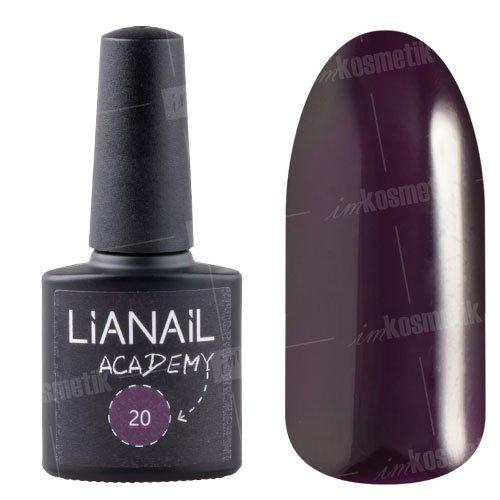 Lianail, Гель-лак Academy - Темно-лиловый №20 (10 мл.)Lianail<br>Гель-лак темно-лиловый, плотный<br>