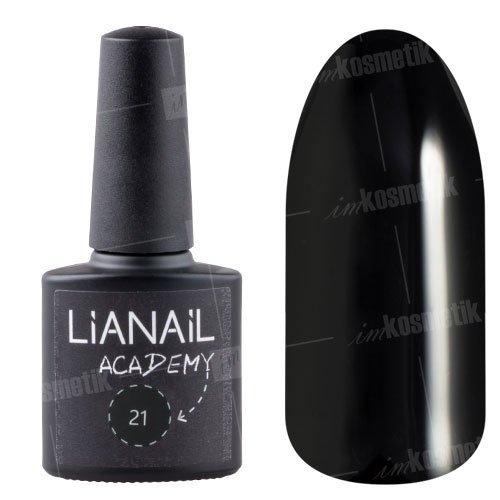 Lianail, Гель-лак Academy - Черный №21 (10 мл.)Lianail<br>Гель-лак черный, плотный<br>