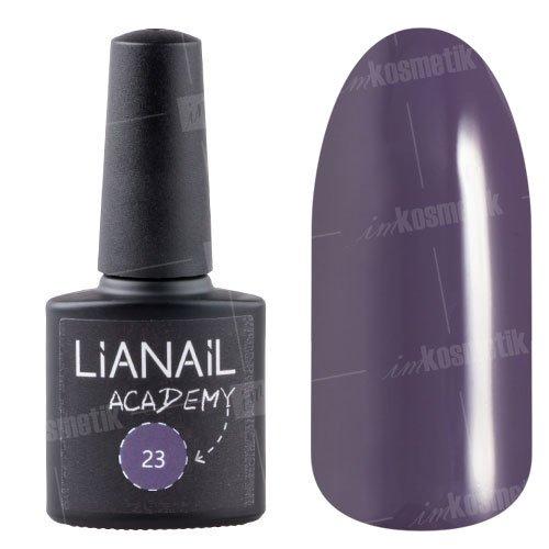 Lianail, Гель-лак Academy - Темно-пурпурный №23 (10 мл.)Lianail<br>Гель-лак темно-пурпурный, плотный<br>