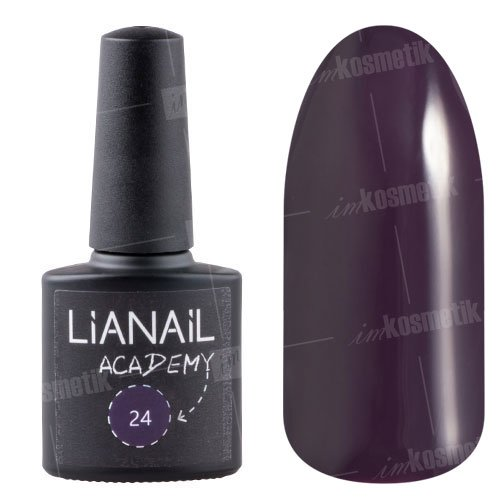 Lianail, Гель-лак Academy - Темный черновато-пурпурный №24 (10 мл.)Lianail<br>Гель-лак темный черновато-пурпурный, плотный<br>