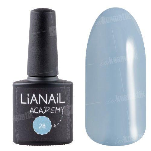 Lianail, Гель-лак Academy - Ниагара №28 (10 мл.)Lianail<br>Гель-лак серебристо-серо-голубоватый, плотный<br>