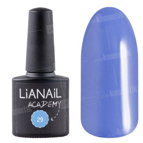 Lianail, Гель-лак Academy - Отдаленно-синий №29 (10 мл.)Lianail<br>Гель-лак отдаленно-синий, плотный<br>