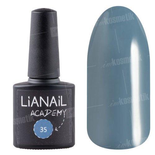 Lianail, Гель-лак Academy - Антрацитовый №35 (10 мл.)Lianail<br>Гель-лак глубокий темный оттенок серого,плотный<br>