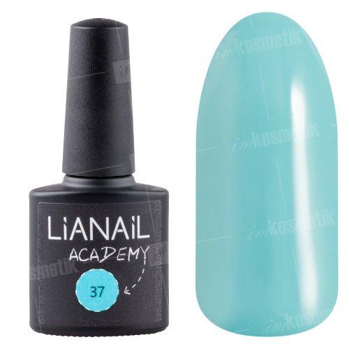 Lianail, Гель-лак Academy - Водная синь №37 (10 мл.)Lianail<br>Гель-лак темный водная синь,плотный<br>