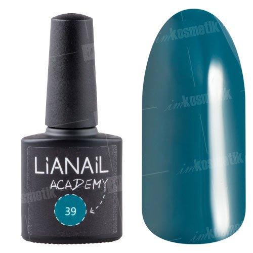 Lianail, Гель-лак Academy - Очень темный зеленовато-синий №39 (10 мл.)Lianail<br>Гель-лак очень темный зеленовато-синий,плотный<br>