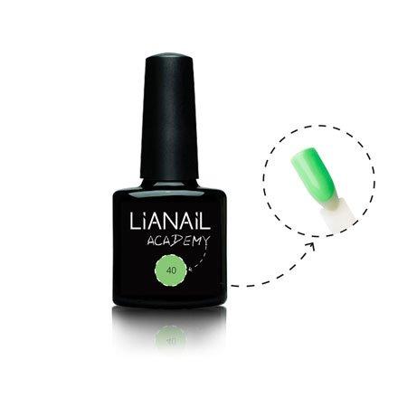 Lianail, Гель-лак Academy - Кричащий зеленый №40 (10 мл.)Lianail<br>Гель-лак зеленый,плотный<br>