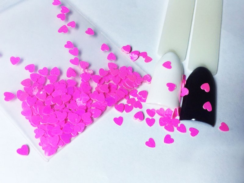 NelTes, Сердца - розовыеКамифубуки для дизайна ногтей<br>Камифубуки для дизайна ногтей<br>