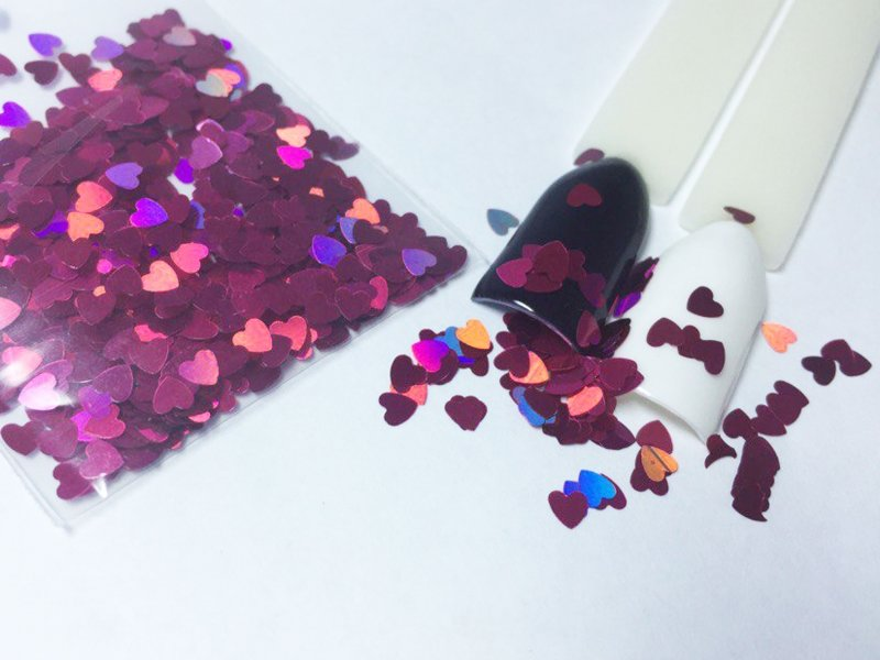 NelTes, Сердца - фуксияКамифубуки для дизайна ногтей<br>Камифубуки для дизайна ногтей<br>