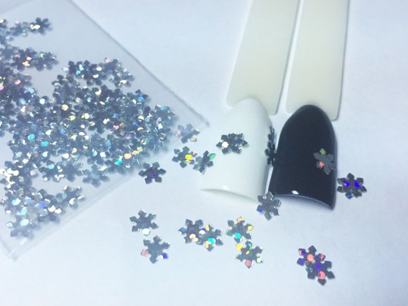 NelTes, Снежинки - серебряныеКамифубуки для дизайна ногтей<br>Камифубуки для дизайна ногтей<br>