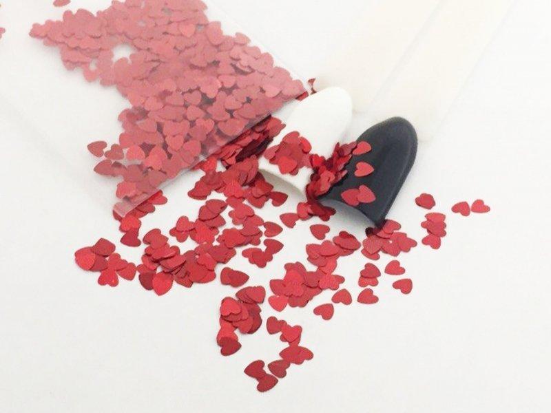 NelTes, Сердца - красныеКамифубуки для дизайна ногтей<br>Камифубуки для дизайна ногтей<br>