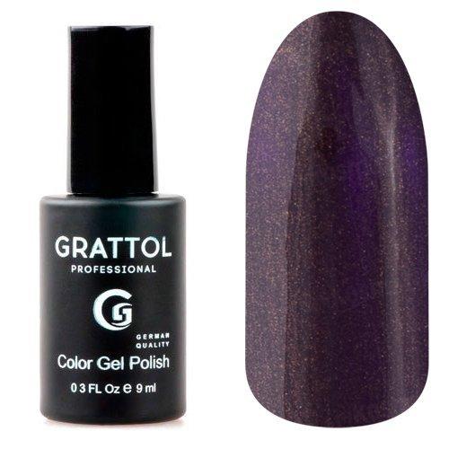Grattol, Гель-лак Umber Faery №94 (9 мл.)Grattol<br>Гель лак темно-фиолетовый с коричневым перламутром, плотный<br>