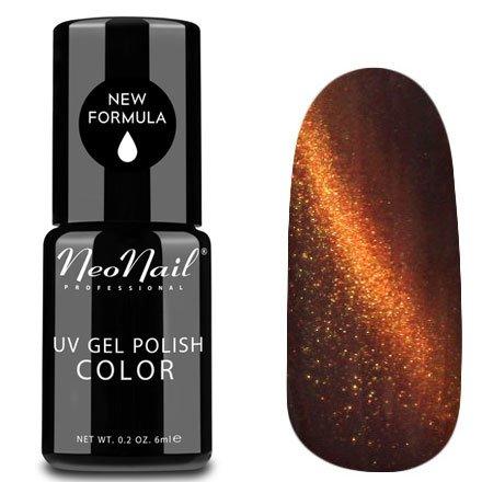 NeoNail, Гель-лак Кошачий глаз - №5106 (6 мл.)NeoNail<br>Гель-лак Кошачий глаз, оранжевый с перламутром, плотный<br>
