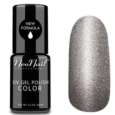 NeoNail, Гель-лак Кошачий глаз - №5105 (6 мл.)NeoNail<br>Гель-лак Кошачий глаз, серебряный с перламутром и шиммером, плотный<br>