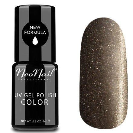 NeoNail, Гель-лак Кошачий глаз - №5033 (6 мл.)NeoNail<br>Гель-лак Кошачий глаз, серый с серебряным перламутром, плотный<br>