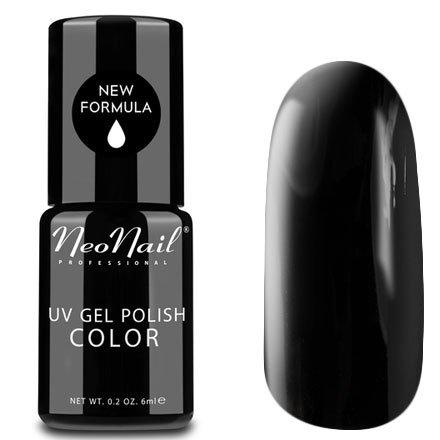 NeoNail, Гель-лак - Pure Black №2996 (6 мл.)NeoNail<br>Гель-лак, классический черный, глянцевый, без блесток и перламутра, плотный<br>