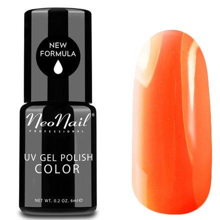 NeoNail, Гель-лак - Neon Orange №3190 (6 мл.)NeoNail<br>Гель-лак, неоновый оранжевый, глянцевый, без блесток и перламутра, плотный<br>