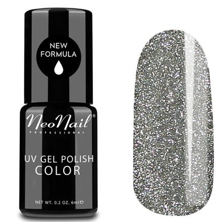 NeoNail, Гель-лак - Glitter Silver №3213 (6 мл.)NeoNail<br>Гель-лак, серебряный, с большим количеством блесток, плотный<br>
