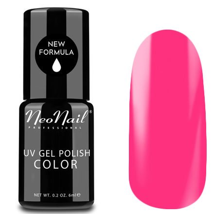 NeoNail, Гель-лак - Neon Pink №3220 (6 мл.)NeoNail<br>Гель-лак, неоновый розовый, глянцевый, без блесток и перламутра, плотный<br>