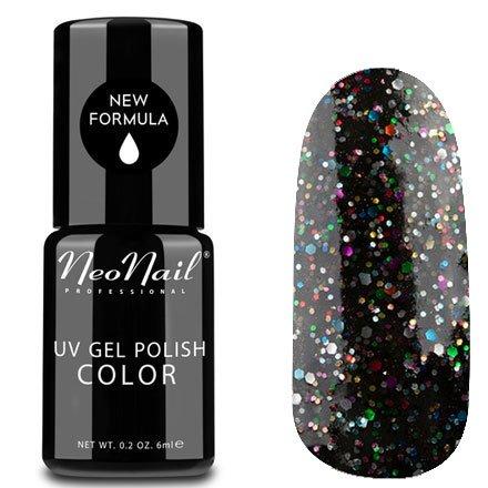 NeoNail, Гель-лак - Black Confetti №3625 (6 мл.)NeoNail<br>Гель-лак, черный, с конфетти, плотный<br>