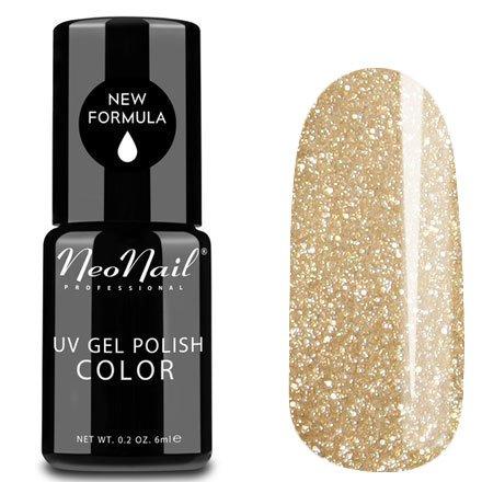 NeoNail, Гель-лак - Glitter Gold №3626 (6 мл.)NeoNail<br>Гель-лак, золотой, с глиттером, плотный<br>