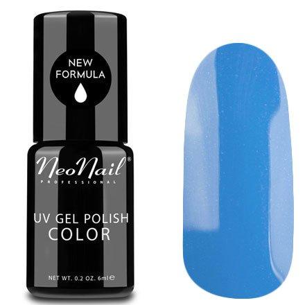 NeoNail, Гель-лак - Muted Blue №3643 (6 мл.)NeoNail<br>Гель-лак, голубой, глянцевый, без блесток и перламутра, плотный<br>