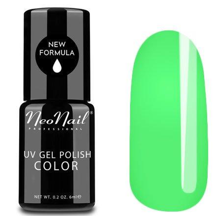 NeoNail, Гель-лак - Neon Green №3749 (6 мл.)NeoNail<br>Гель-лак, неоновый светло-зеленый, глянцевый, без блесток и перламутра, плотный<br>