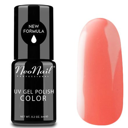 NeoNail, Гель-лак - Juicy Peach №3752 (6 мл.)NeoNail<br>Гель-лак, сочный персик, глянцевый, без блесток и перламутра, плотный<br>