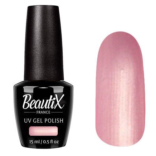 Beautix, Гель-лак №201 (15 мл.)Beautix<br>Гель-лак, розовый, с перламутром, плотный<br>