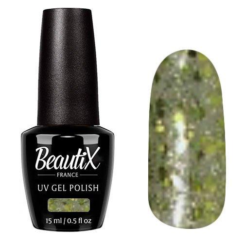 Beautix, Гель-лак №308 (15 мл.)Beautix<br>Гель-лак, полупрозрачный с крупными блестками<br>