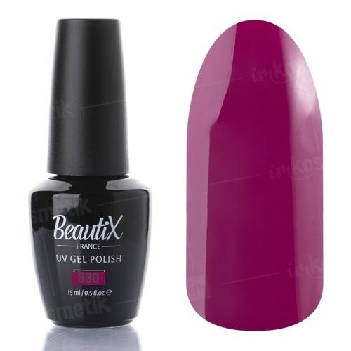 Beautix, Гель-лак №330 (15 мл.)Beautix<br>Гель-лак,спелая вишня, глянцевый, без блесток и перламутра, плотный<br>