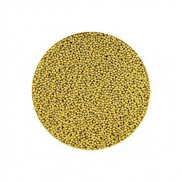 NelTes, Бульонки мелкие для дизайна ногтей (золото, 0.2-0.4 мм.)Бульонки<br>Бульонки мелкиезакаленное стекло<br>