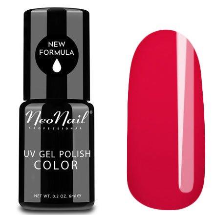 NeoNail, Гель-лак - Raspberry Red №3762 (6 мл.)NeoNail<br>Гель-лак, малиново-красный, глянцевый, без блесток и перламутра, плотный<br>