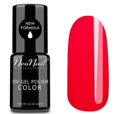 NeoNail, Гель-лак - Fiery Flamenco №3763 (6 мл.)NeoNail<br>Гель-лак, красный, глянцевый, без блесток и перламутра, плотный<br>