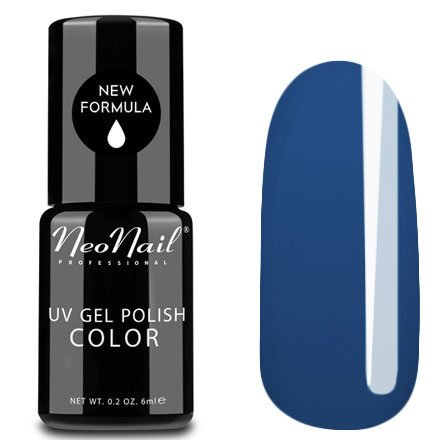 NeoNail, Гель-лак - Solid Navy №3766 (6 мл.)NeoNail<br>Гель-лак, синий, глянцевый, без блесток и перламутра, плотный<br>