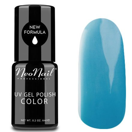 NeoNail, Гель-лак - Calm Sea №3771 (6 мл.)NeoNail<br>Гель-лак, морской голубой, глянцевый, без блесток и перламутра, плотный<br>