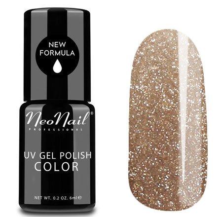 NeoNail, Гель-лак - Antique Gold №3786 (6 мл.)NeoNail<br>Гель-лак, золотой, с блестками, плотный<br>