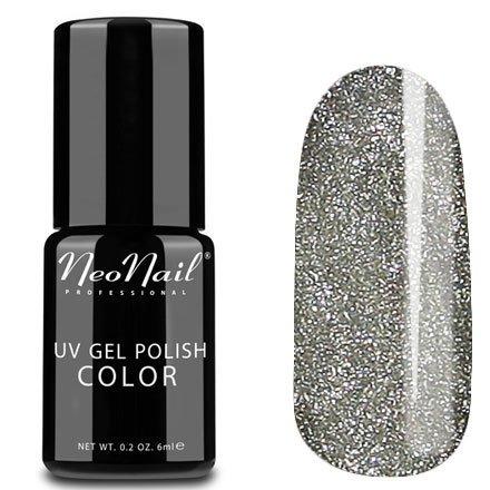NeoNail, Гель-лак - Star Dust №4626 (6 мл.)NeoNail<br>Гель-лак, серебряный, с большим количеством блесток, плотный<br>