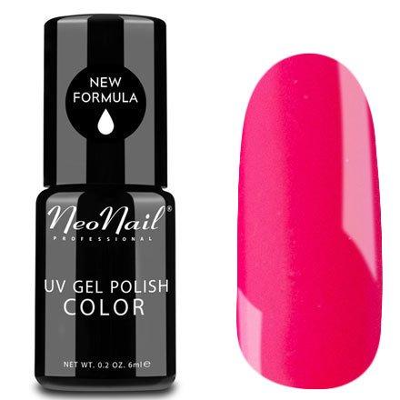 NeoNail, Гель-лак - Paradise Flower №4628 (6 мл.)NeoNail<br>Гель-лак, фуксиево-розовый, глянцевый, без блесток и перламутра, плотный<br>
