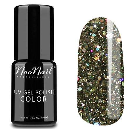 NeoNail, Гель-лак - Glitter Galaxy №4632 (6 мл.)NeoNail<br>Гель-лак, полупрозрачный, с черным подтоном и глиттером, плотный<br>