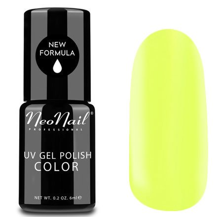NeoNail, Гель-лак - Yellow Bahama №4810 (6 мл.)NeoNail<br>Гель-лак, неоново-лимонный, глянцевый, без блесток и перламутра, плотный<br>