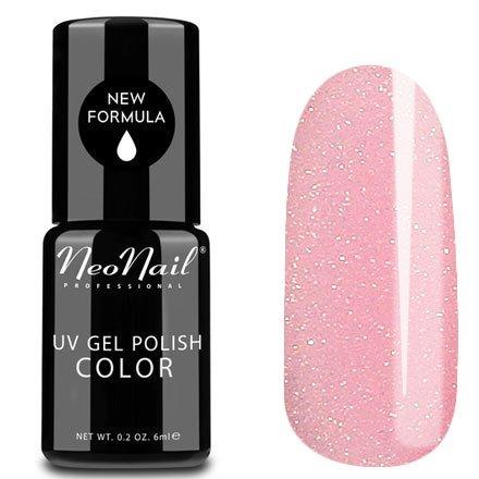 NeoNail, Гель-лак - Morning Rose №4816 (6 мл.)NeoNail<br>Гель-лак, полупрозрачный, с розовым подтоном и золотистыми блестками<br>