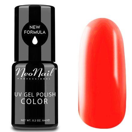 NeoNail, Гель-лак - Papaya Shake №4820 (6 мл.)NeoNail<br>Гель-лак, яркий неоново-оранжевый, глянцевый, без блесток и перламутра, плотный<br>