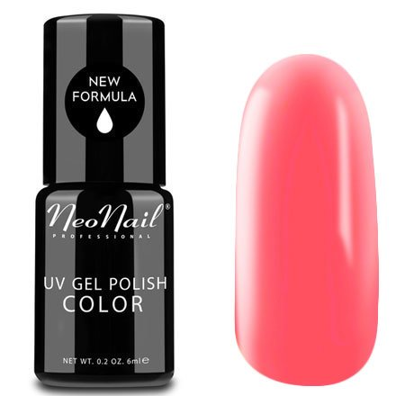 NeoNail, Гель-лак - Bayahibe Bikini №4823 (6 мл.)NeoNail<br>Гель-лак, светлый кораллово-розовый, глянцевый, без блесток и перламутра, плотный<br>