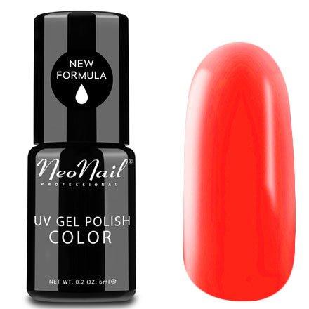 NeoNail, Гель-лак - Paradise Drink №4824 (6 мл.)NeoNail<br>Гель-лак, яркий оранжевый, глянцевый, без блесток и перламутра, плотный<br>