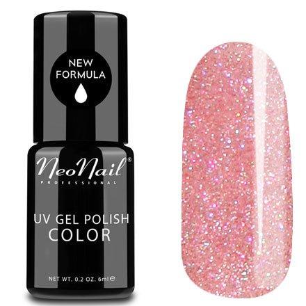 NeoNail, Гель-лак - Sleeping Beauty №4825 (6 мл.)NeoNail<br>Гель-лак, полупрозрачный, с розовым подтоном и блестками<br>