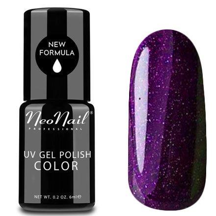 NeoNail, Гель-лак - Prune Brandy №4907 (6 мл.)NeoNail<br>Гель-лак, космический пурпурный, глянцевый, с блестками, плотный<br>