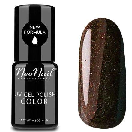 NeoNail, Гель-лак - Magic Look №4908 (6 мл.)NeoNail<br>Гель-лак, космический коричневый, глянцевый, с блестками, плотный<br>